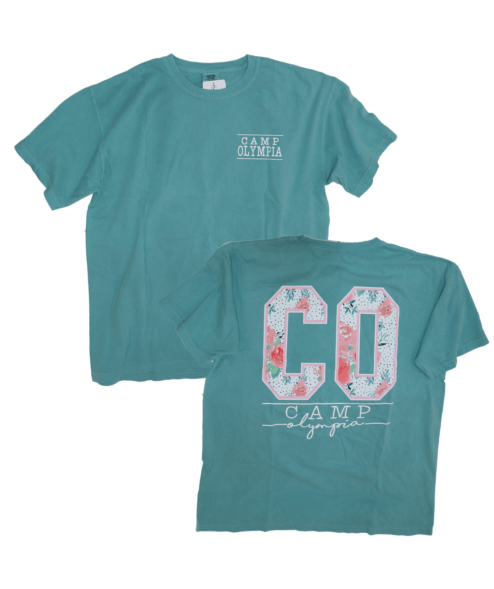 011cb261 CO Floral Fill Tee - Seafoam - Camp Olympia
