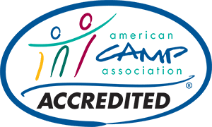 Accredited by the American Camp Association logo.